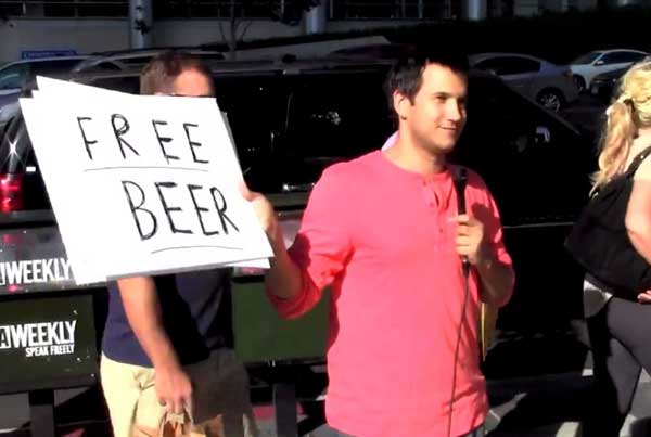 Matt Ritter Goes to The Bar Exam with Beer and Hugs
